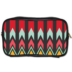 Waves and other shapes patternToiletries Bag (One Side)