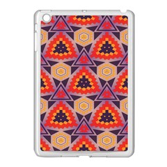 Triangles honeycombs and other shapes pattern			Apple iPad Mini Case (White)