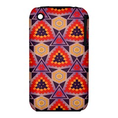Triangles honeycombs and other shapes pattern			Apple iPhone 3G/3GS Hardshell Case (PC+Silicone)