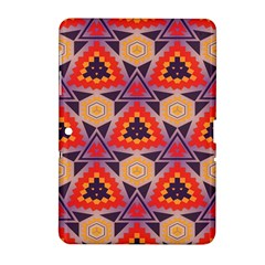 Triangles honeycombs and other shapes patternSamsung Galaxy Tab 2 (10.1 ) P5100 Hardshell Case