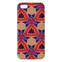 Triangles honeycombs and other shapes patterniPhone 5S Premium Hardshell Case