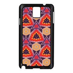 Triangles honeycombs and other shapes patternSamsung Galaxy Note 3 N9005 Case (Black)