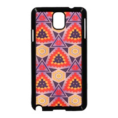 Triangles honeycombs and other shapes pattern			Samsung Galaxy Note 3 Neo Hardshell Case (Black)