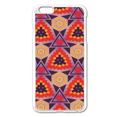 Triangles Honeycombs And Other Shapes Patternapple Iphone 6 Plus/6s Plus Enamel White Case