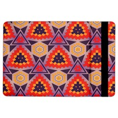 Triangles honeycombs and other shapes patternApple iPad Air 2 Flip Case