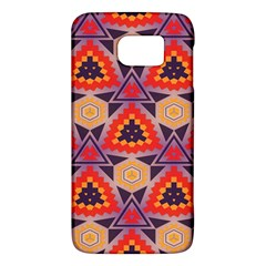 Triangles honeycombs and other shapes patternSamsung Galaxy S6 Hardshell Case