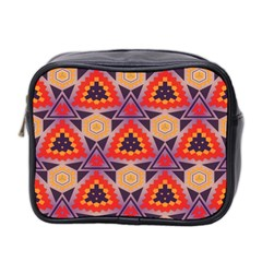 Triangles honeycombs and other shapes pattern Mini Toiletries Bag (Two Sides)
