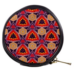 Triangles honeycombs and other shapes pattern Mini Makeup Bag