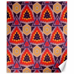 Triangles honeycombs and other shapes patternCanvas 20  x 24