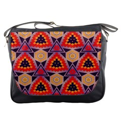 Triangles honeycombs and other shapes pattern			Messenger Bag
