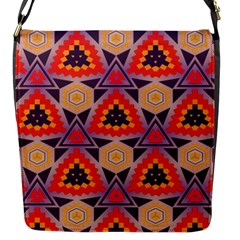 Triangles honeycombs and other shapes patternFlap Closure Messenger Bag (S)