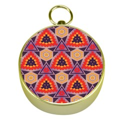 Triangles honeycombs and other shapes patternGold Compass
