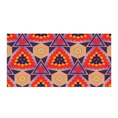 Triangles Honeycombs And Other Shapes Pattern Satin Wrap