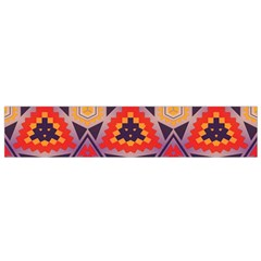 Triangles honeycombs and other shapes pattern Flano Scarf