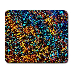 Colorful Seashell Beach Sand, Large Mousepads