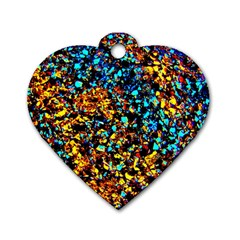 Colorful Seashell Beach Sand, Dog Tag Heart (Two Sides)