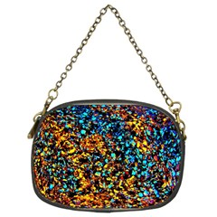 Colorful Seashell Beach Sand, Chain Purses (Two Sides)