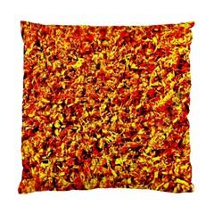 Orange Yellow  Saw Chips Standard Cushion Case (one Side)