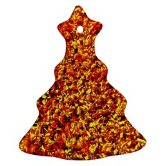 Orange Yellow  Saw Chips Ornament (christmas Tree)