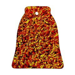 Orange Yellow  Saw Chips Ornament (bell)