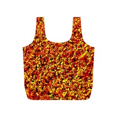 Orange Yellow  Saw Chips Full Print Recycle Bags (S)