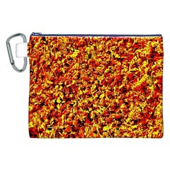 Orange Yellow  Saw Chips Canvas Cosmetic Bag (XXL)
