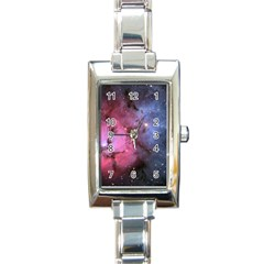 Trifid Nebula Rectangle Italian Charm Watches