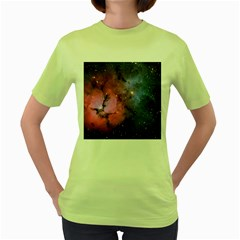 Trifid Nebula Women s Green T Shirt