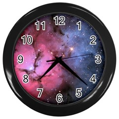 Trifid Nebula Wall Clocks (black)