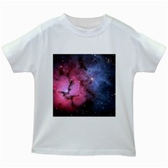 Trifid Nebula Kids White T Shirts