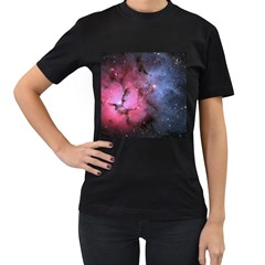 Trifid Nebula Women s T Shirt (black) (two Sided)