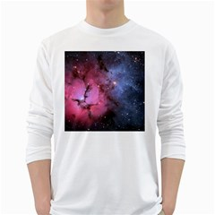 Trifid Nebula White Long Sleeve T Shirts