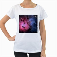 Trifid Nebula Women s Loose Fit T Shirt (white)