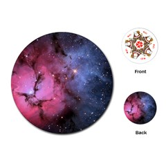 Trifid Nebula Playing Cards (round)