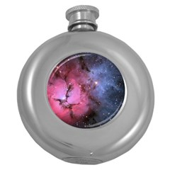 Trifid Nebula Round Hip Flask (5 Oz)