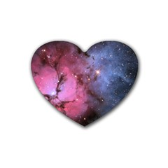 Trifid Nebula Heart Coaster (4 Pack)