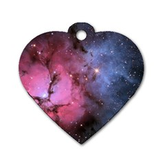 Trifid Nebula Dog Tag Heart (one Side)