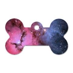 Trifid Nebula Dog Tag Bone (one Side)