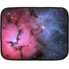 Trifid Nebula Double Sided Fleece Blanket (mini)