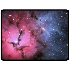 Trifid Nebula Fleece Blanket (large)