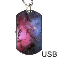 Trifid Nebula Dog Tag Usb Flash (one Side)