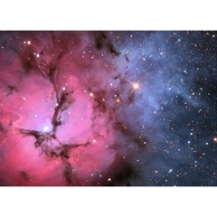 Trifid Nebula Birthday Cake 3d Greeting Card (7x5)