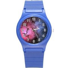 Trifid Nebula Round Plastic Sport Watch (s)