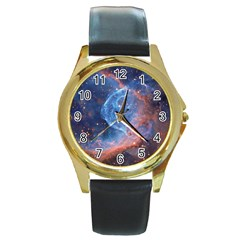 Thor s Helmet Round Gold Metal Watches