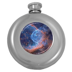 Thor s Helmet Round Hip Flask (5 Oz)
