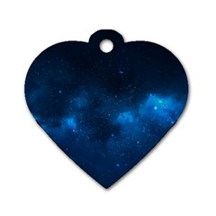 STARRY SPACE Dog Tag Heart (One Side)