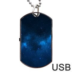 STARRY SPACE Dog Tag USB Flash (One Side)