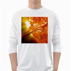 SOLAR FLARE 2 White Long Sleeve T-Shirts