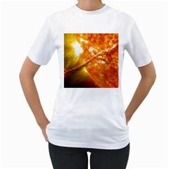 SOLAR FLARE 2 Women s T-Shirt (White)