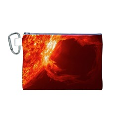 SOLAR FLARE 1 Canvas Cosmetic Bag (M)